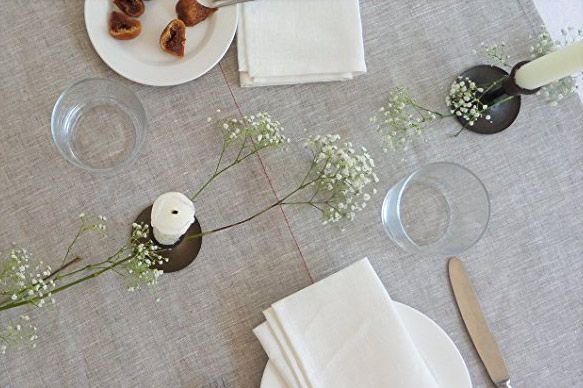 Celina Mancurti Wide Linen Table Runner