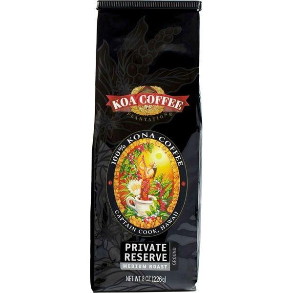 Koa Private Reserve Medium Roast Ground 100% Kona Coffee