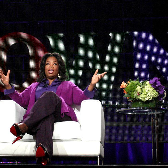 Oprah Winfrey speaks during the OWN: Oprah Winfrey Network portion of the 2011 Winter TCA press tour