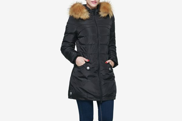 Orolay Women's Down Jacket With Faux-Fur-Trim Hood