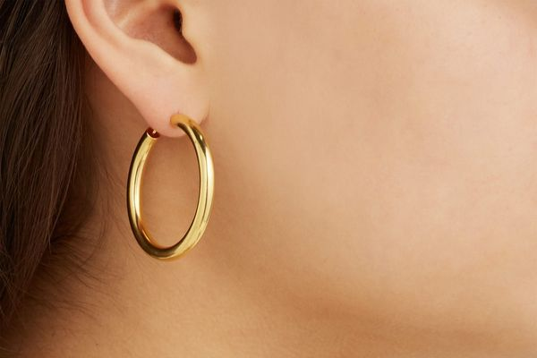 Theodora Warre Gold-Plated Hoop Earring