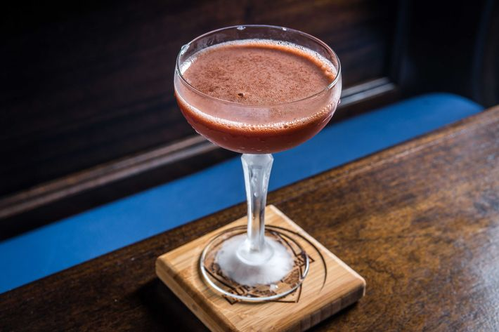 Gonzalez will serve his Trinidad Sour, of course, which is made with Ragtime rye, Angostura bitters, lemon, and orgeat.