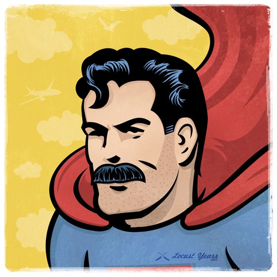 Superheroes With Mustaches Seems About Right Vulture