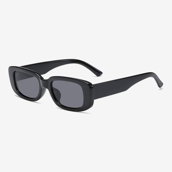 AISSWZBER Vintage Rectangle Sunglasses