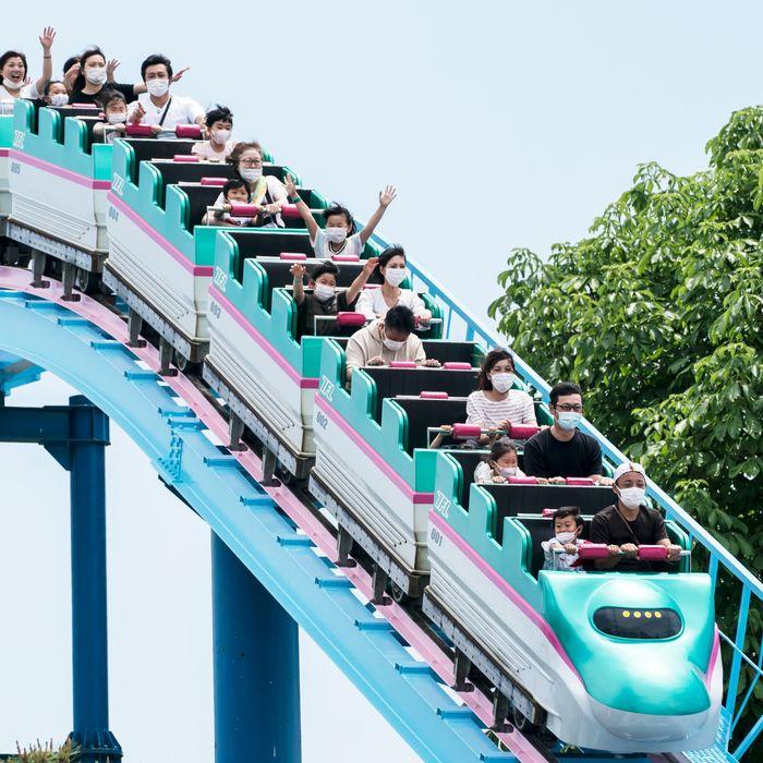 Roller coaster in Japan.