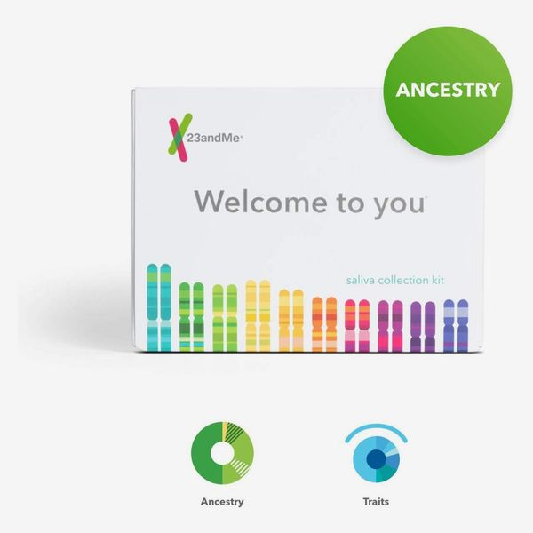 The 23andMe Ancestry + Traits Service: Personal Genetic DNA Test box on a cream background. 33 Things on Sale You'll Actually Want to Buy: From Adidas to Le Creuset - The Strategist