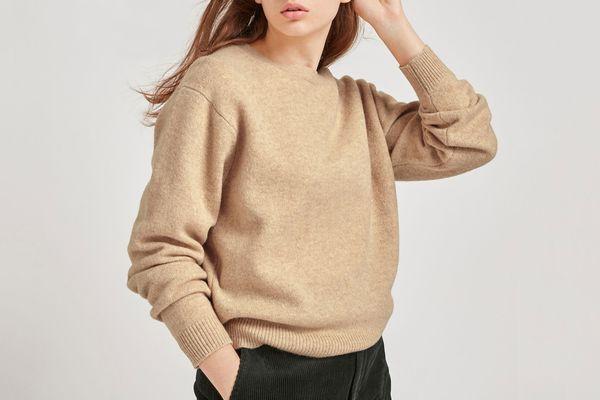 Uniqlo Women Premium Lambswool Crew Neck Sweater
