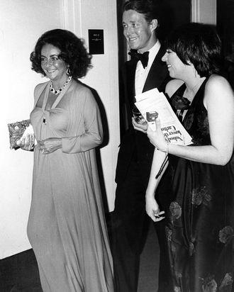Elizabeth Taylor, Halston, and Liza Minnelli.