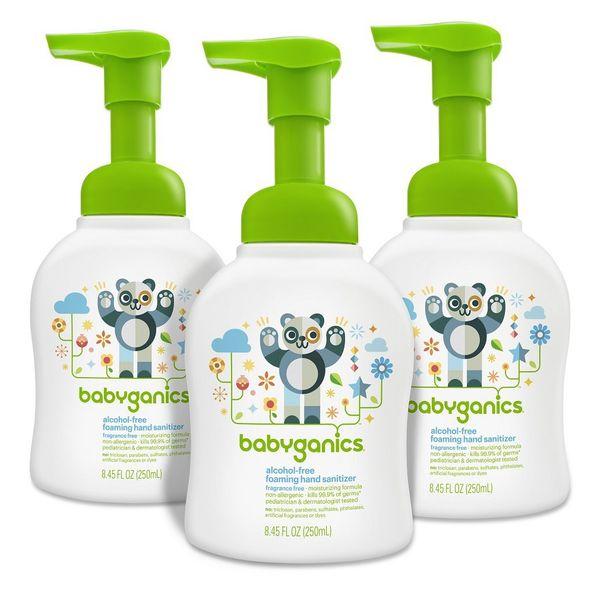 Babyganics Alcohol-Free Foaming Sanitizer, 3-pack
