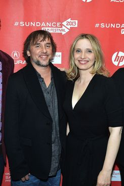 "(L-R) Sundance Film Festival Director of Programming Trevor Groth, director Richard Linklater, actress Julie Delpy and Sundance Film Festival Director John Cooper attend the ""Before Midnight"" premiere at Eccles Center Theatre during the 2013 Sundance Film Festival on January 20, 2013 in Park City, Utah."