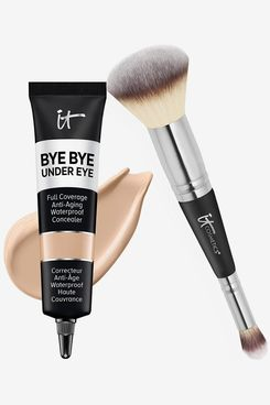 IT Cosmetics Makeup Set - Bye Bye Under Eye Concealer + Heavenly Luxe Complexion Perfection Brush