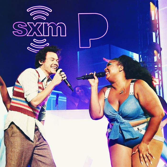 Harry Styles and Lizzo.