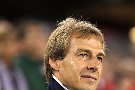 GLENDALE, AZ - JANUARY 21:  Head coach Jurgen Klinsmann of USA looks on during the friendly match against Venezuela at University of Phoenix Stadium on January 21, 2012 in Glendale, Arizona.   USA defeated Venezuela 1-0.  (Photo by Christian Petersen/Getty Images)