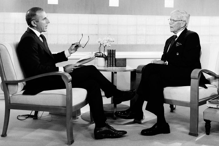 Matt Lauer and Tom Brokaw.