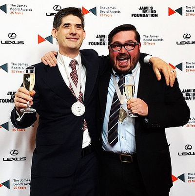 Winners Dave Arnold and Sean Brock.