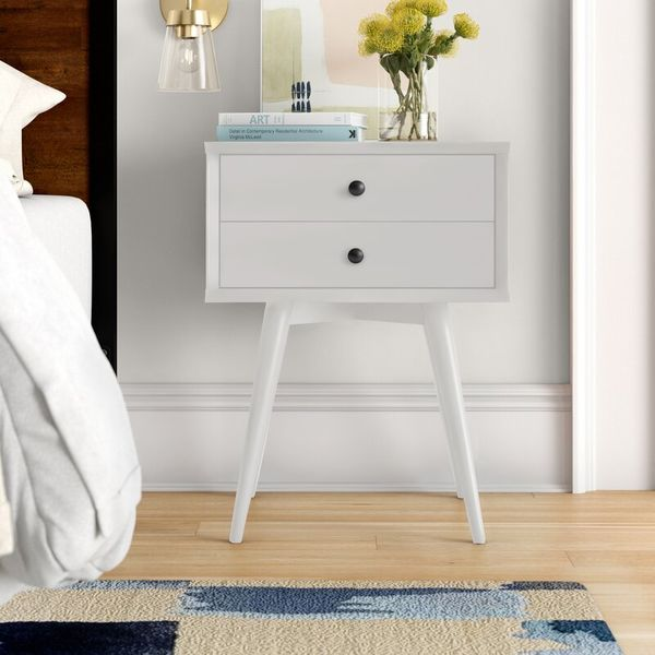 Foundstone Grady Two-Drawer Solid Wood Nightstand