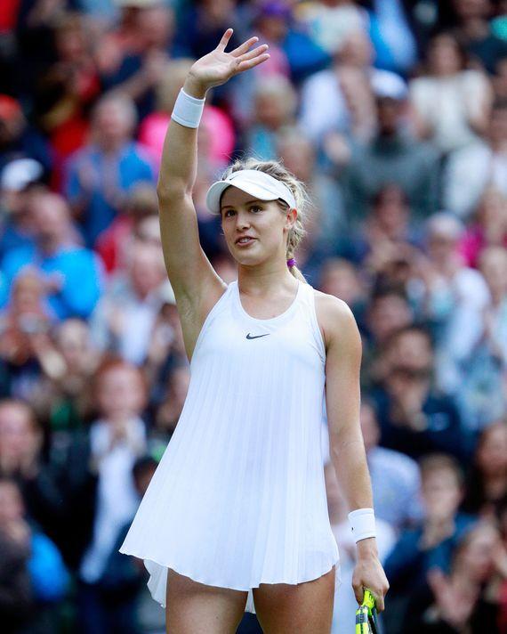 Eugenie Bouchard at Wimbledon.