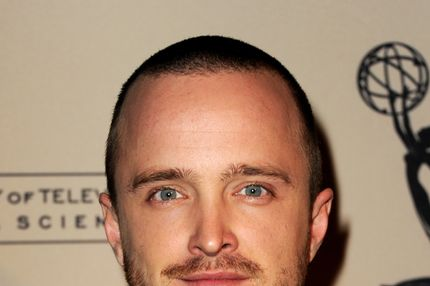 "Actor Aaron Paul arrives at The Academy of Television Arts & Sciences Presents an Evening with ""Breaking Bad"" at the Leonard H. Goldenson Theatre on February 23, 2012 in North Hollywood, California."