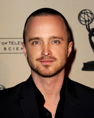 Actor Aaron Paul arrives at The Academy of Television Arts & Sciences Presents an Evening with