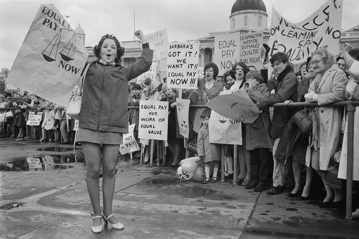 An equal pay for women demonstration in London, 1969.