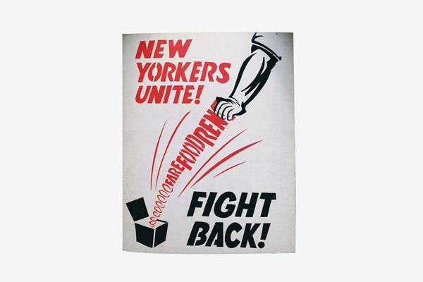 "Blk Mkt Vintage ""New Yorkers Unite"" Protest Poster"