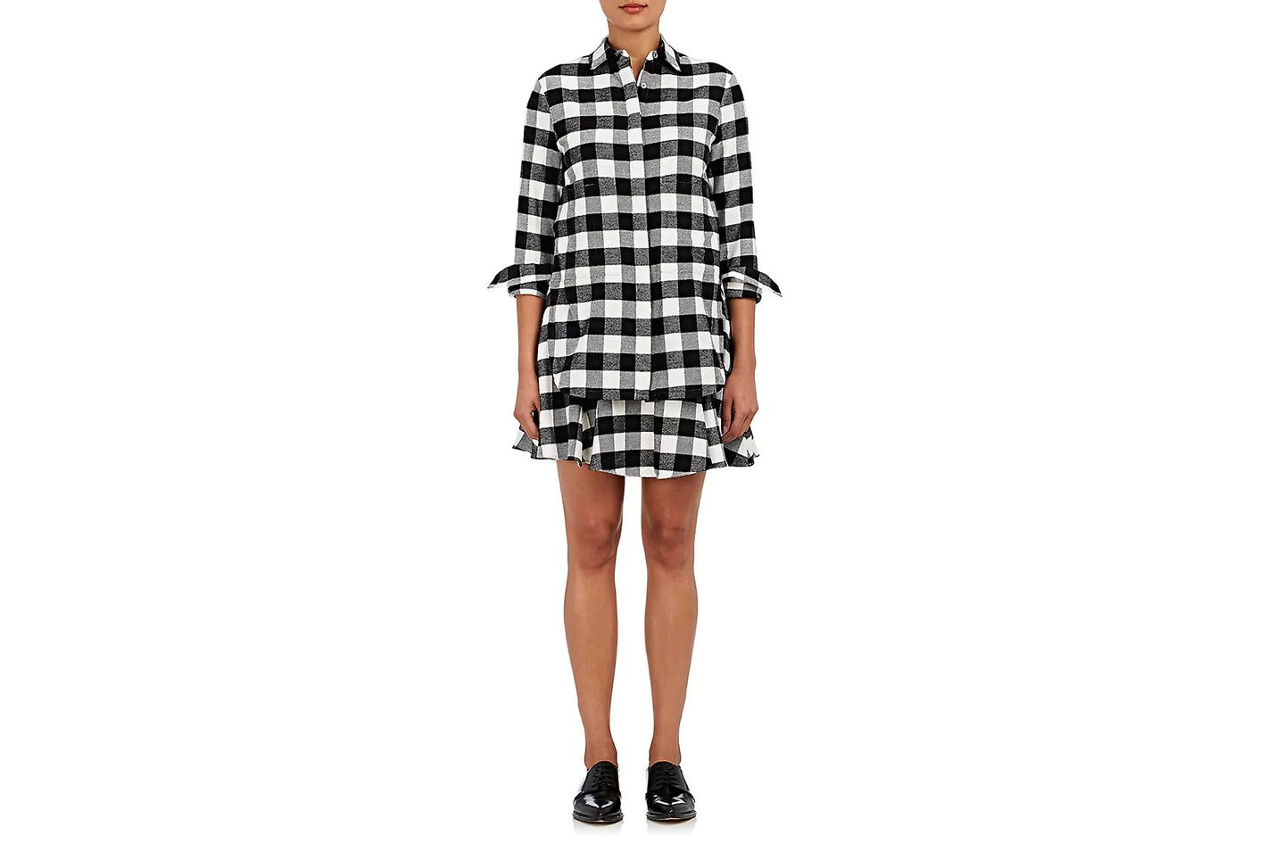 Derek Lam 10 Crosby Checked Flannel Shirtdress