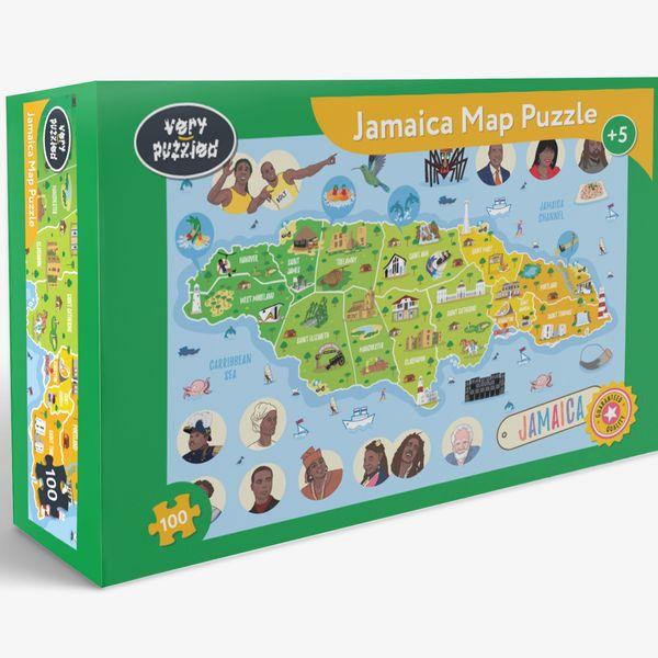 Jamaica Map Jigsaw Puzzle