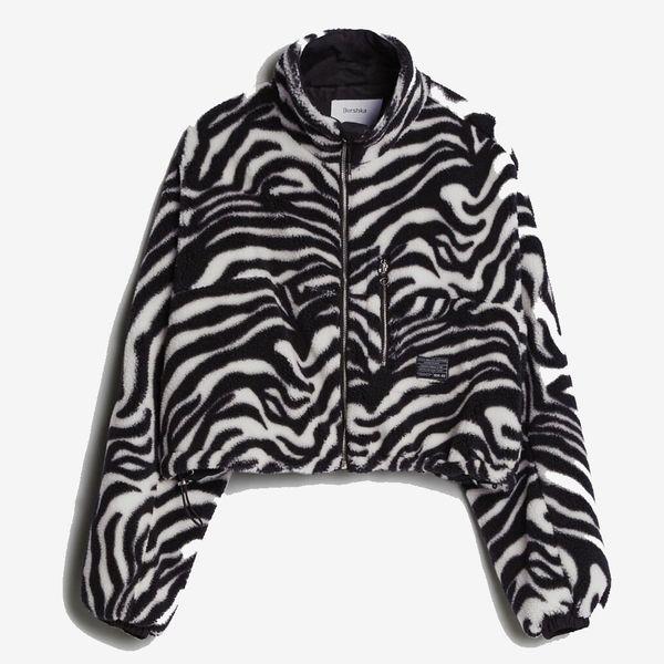 Bershka Faux Shearling Jacket