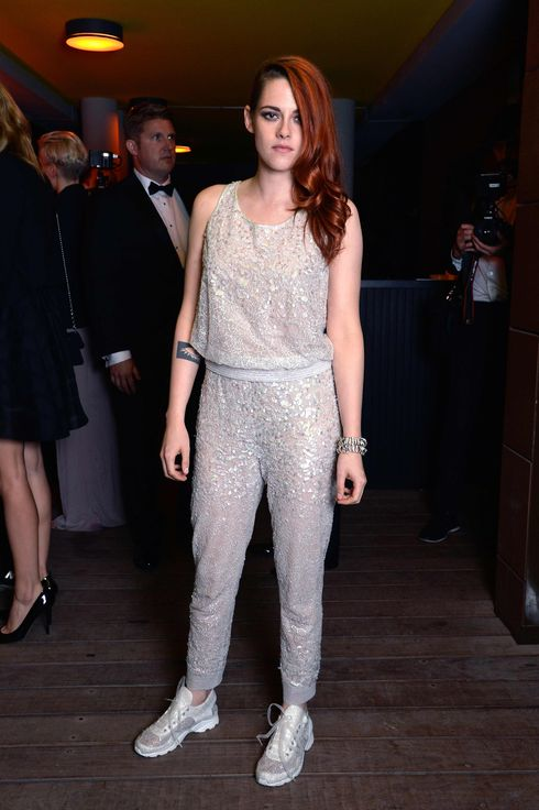 "CANNES, FRANCE - MAY 23:  Actress Kristen Stewart attends the dinner party of ""Clouds of Sils Maria"" at the Silencio restaurant during the 67th Annual Cannes Film Festival on May 23, 2014 in Cannes, France.  (Photo by Pascal Le Segretain/Getty Images for Chanel)"