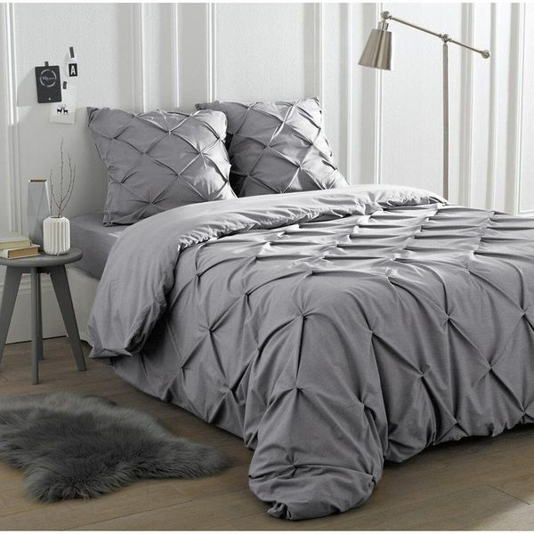 Blanche Ruched Duvet Cover (Double)