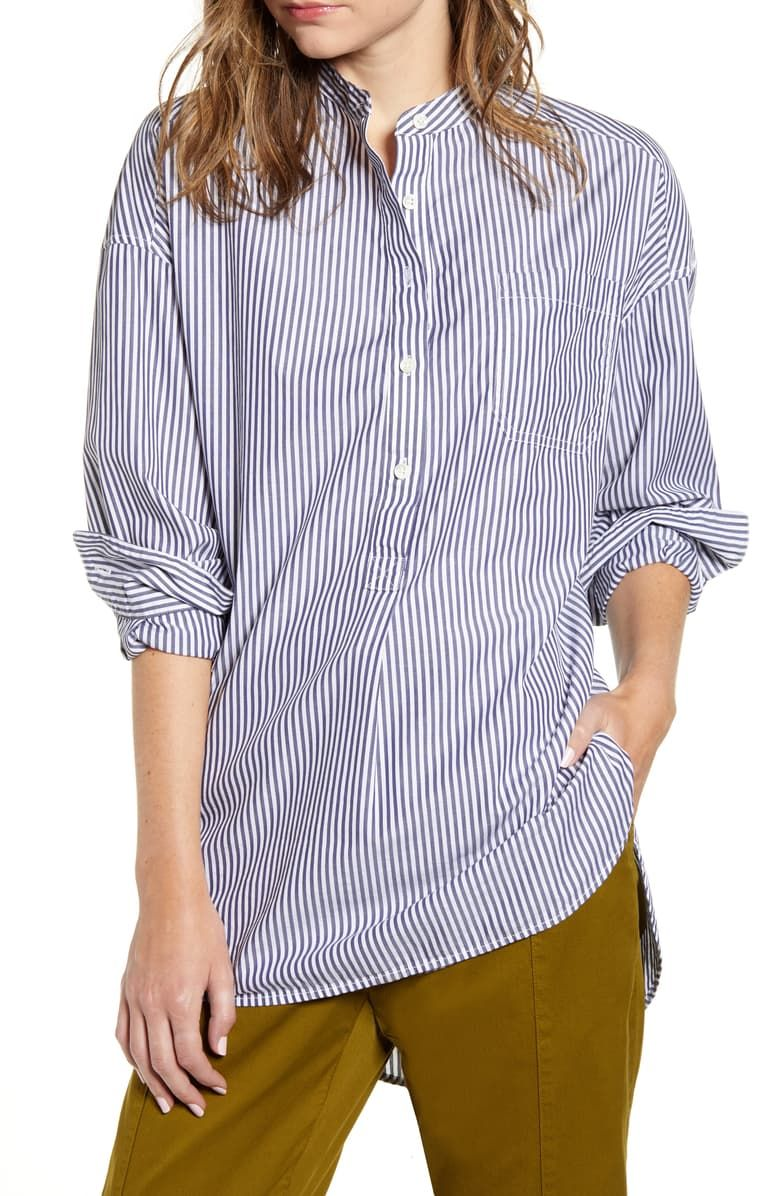 Alex Mill Stripe Popover Tunic Shirt