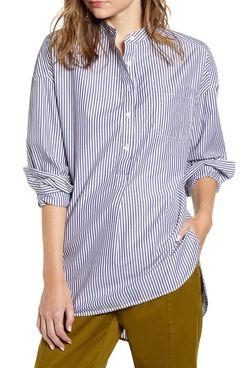 Alex Mill Stripe Popover Tunic Shirt