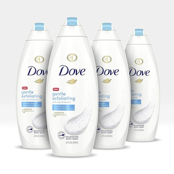 Dove Gentle Exfoliating Body Wash, 4 Pack