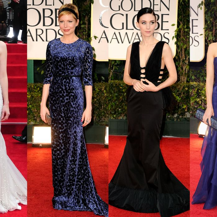 Jessica Chastain, Michelle Williams, Rooney Mara, and Bérénice Bejo.