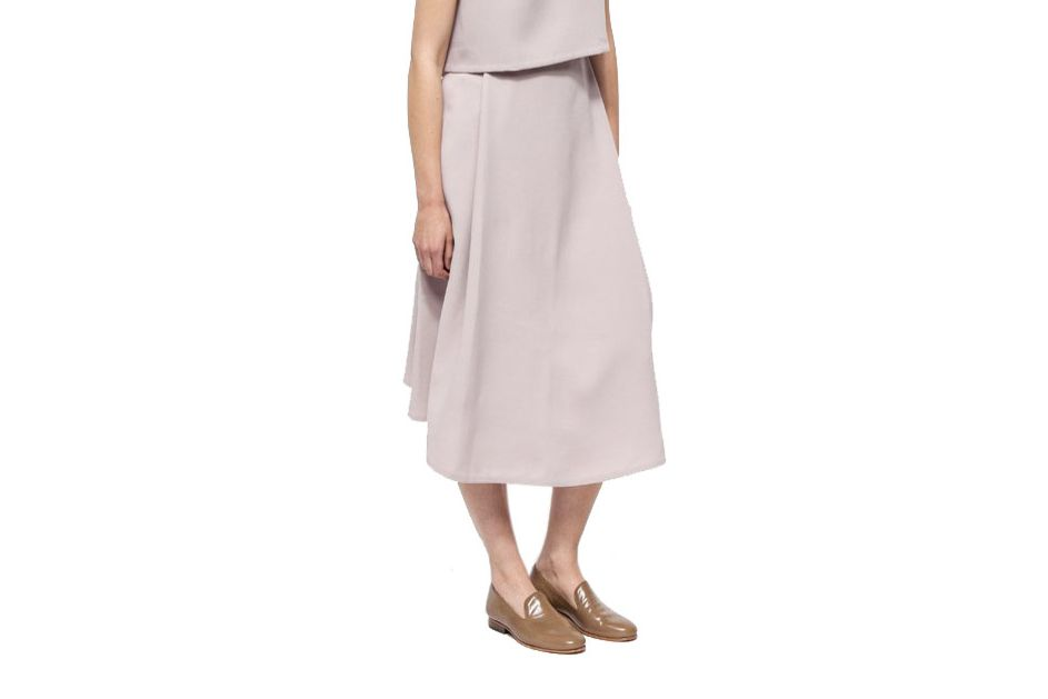 Kaarem Stream Deep Pleated Midi Skirt