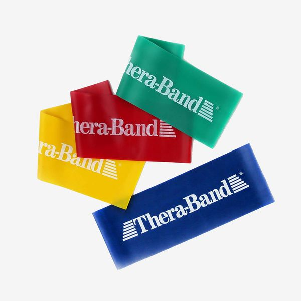 TheraBand Loop Resistance Band, 8-Inch Multipack