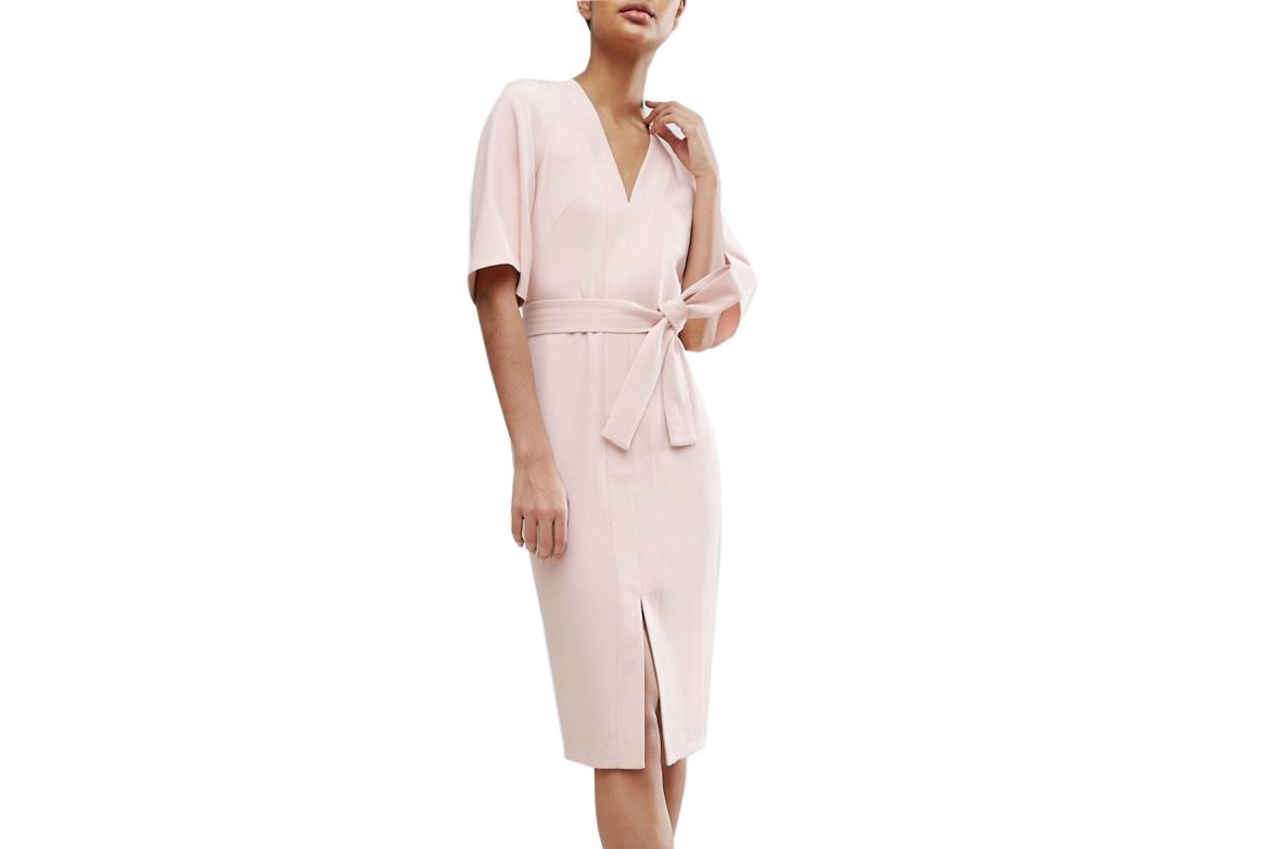 ASOS Clean Obi Wrap Dress