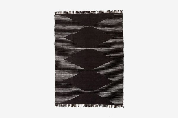 Connected Stripe Rag Rug