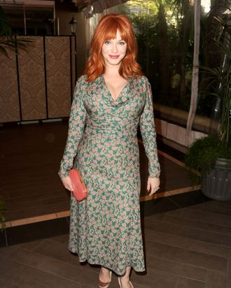 Actress Christina Hendricks attends the 13th Annual AFI Awards at Four Seasons Los Angeles at Beverly Hills on January 11, 2013 in Beverly Hills, California.