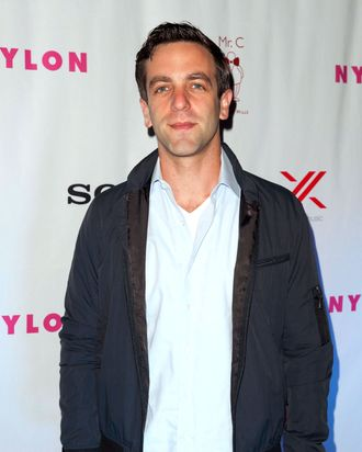 Actor B.J. Novak attends the NYLON And Sony X Headphones September TV Issue Party at Mr. C Beverly Hills on September 15, 2012 in Beverly Hills, California.