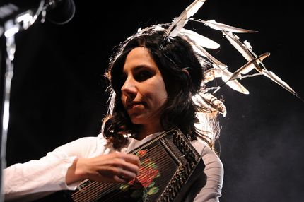 INDIO, CA - APRIL 17:  Singer PJ Harvey performs during Day 3 of the Coachella Valley Music & Arts Festival 2011 held at the Empire Polo Club on April 17, 2011 in Indio, California.  (Photo by Frazer Harrison/Getty Images) *** Local Caption *** PJ Harvey