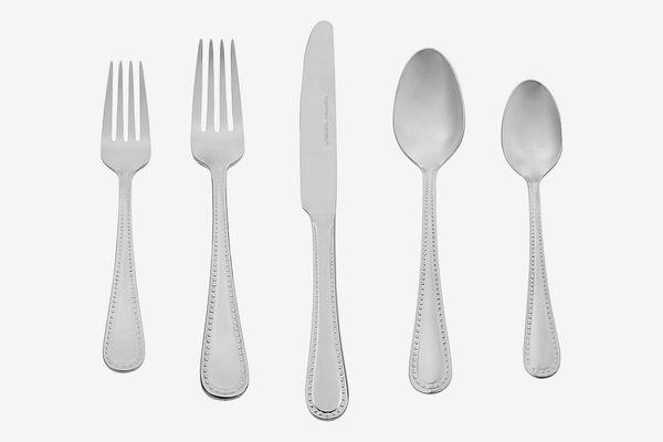 AmazonBasics 20-Piece Stainless Steel Flatware Silverware Set