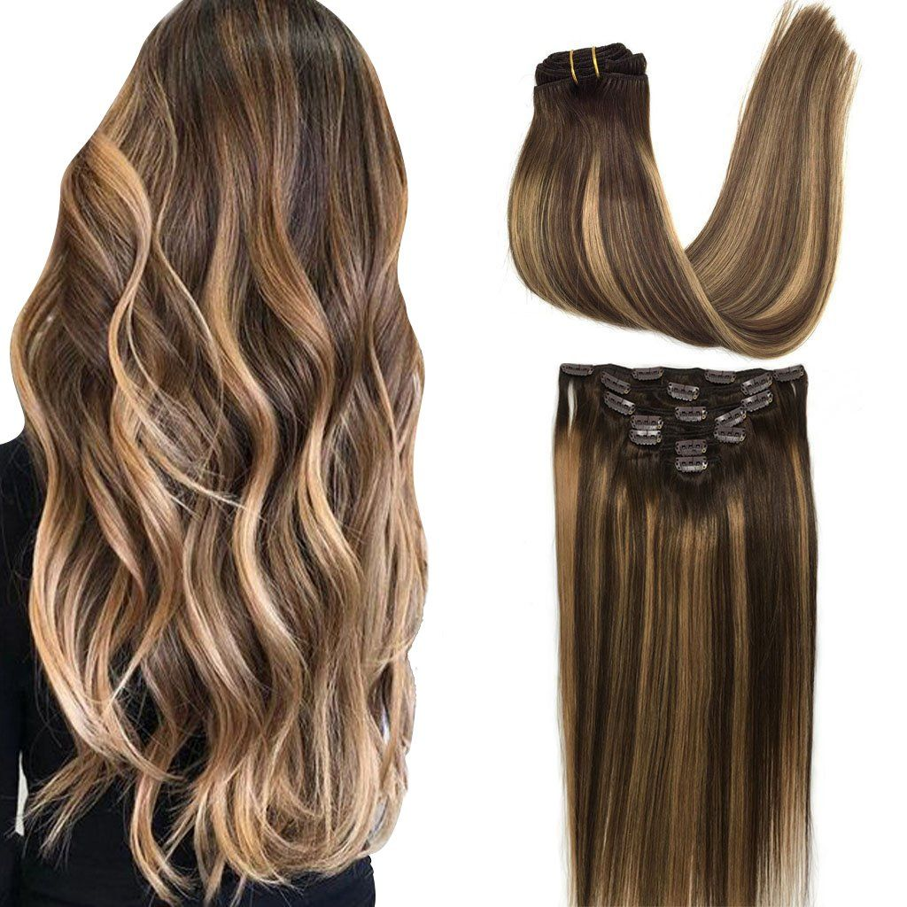 "Googoo 24"" Clip in Hair extensions, Ombre Honey Blonde, 120g, 7pcs"