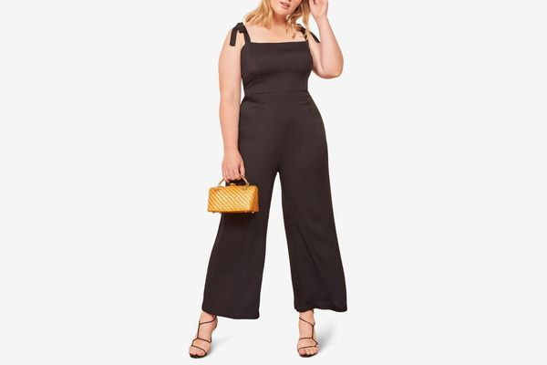 Reformation Fay Sleeveless Tie Shoulder Jumpsuit