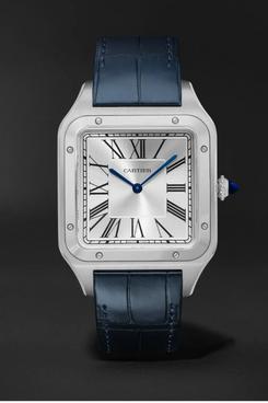 CARTIER Santos-Dumont Steel and Alligator Watch