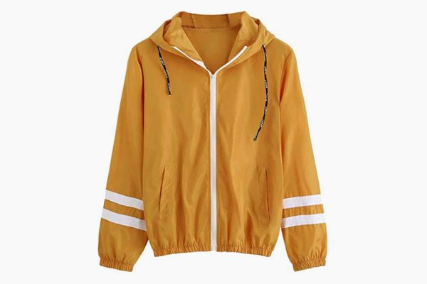 SweatyRocks Color-Block Windbreaker