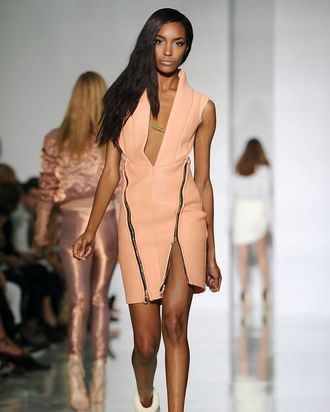 Jourdan Dunn in Kanye West spring 2012.
