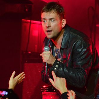 LONDON, ENGLAND - NOVEMBER 15: Damon Albarn performs live on stage with his band 'The Heavy Seas' at Royal Albert Hall on November 15, 2014 in London, United Kingdom (Photo by Jim Dyson/Redferns via Getty Images)
