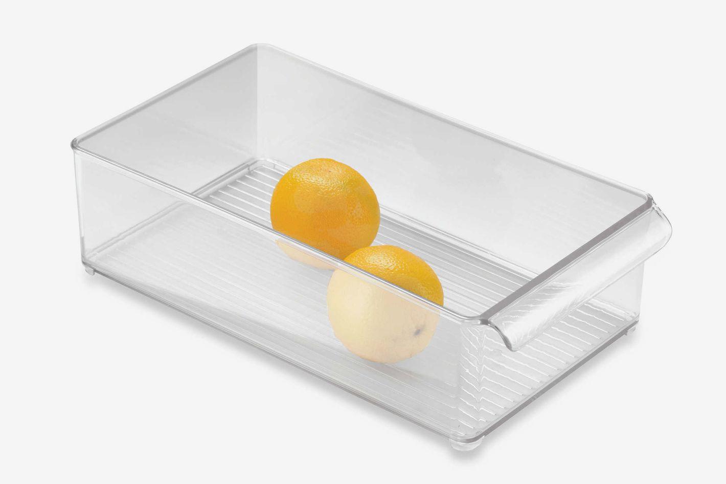 InterDesign Fridge Binz 8-Inch x 15-Inch Stackable Clear Plastic Bin