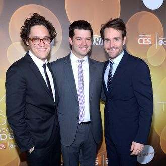 (L-R) Writer/producer Phil Lord, writer/producer Chris Miller and honoree Will Forte attend the Variety Breakthrough of the Year Awards during the 2014 International CES at The Las Vegas Hotel & Casino on January 9, 2014 in Las Vegas, Nevada.